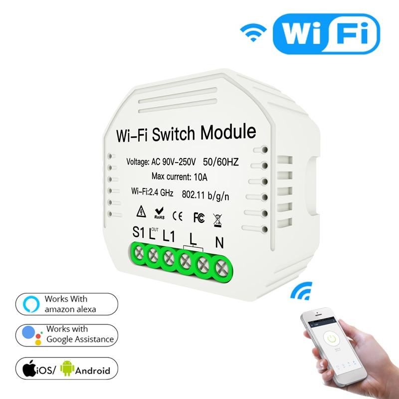 WiFi Smart Light Switch APP Remote Touch Control Light Switch Tuya APP With Rail Bracket Work With Alexa Google Home
