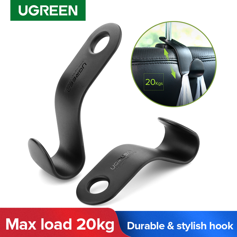 Ugreen 2pcs Car Holder In Car Adjustable Backseat Headrest Hanger Hooks For Cloth Grocery Bag Purse Organizer Storage Car Hook