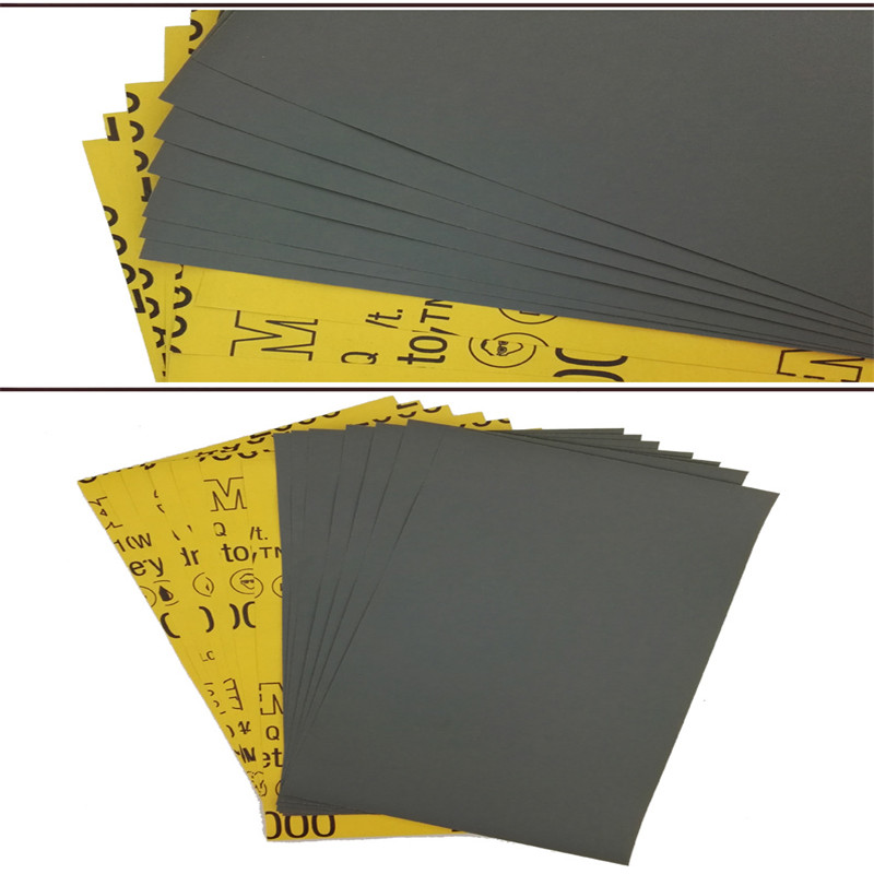 10 Pcs 3M 1500/2000 # Car Furniture Beauty Polishing Sandpaper Water Sandpaper MS Car Beauty Sandpaper Car Paint Repair
