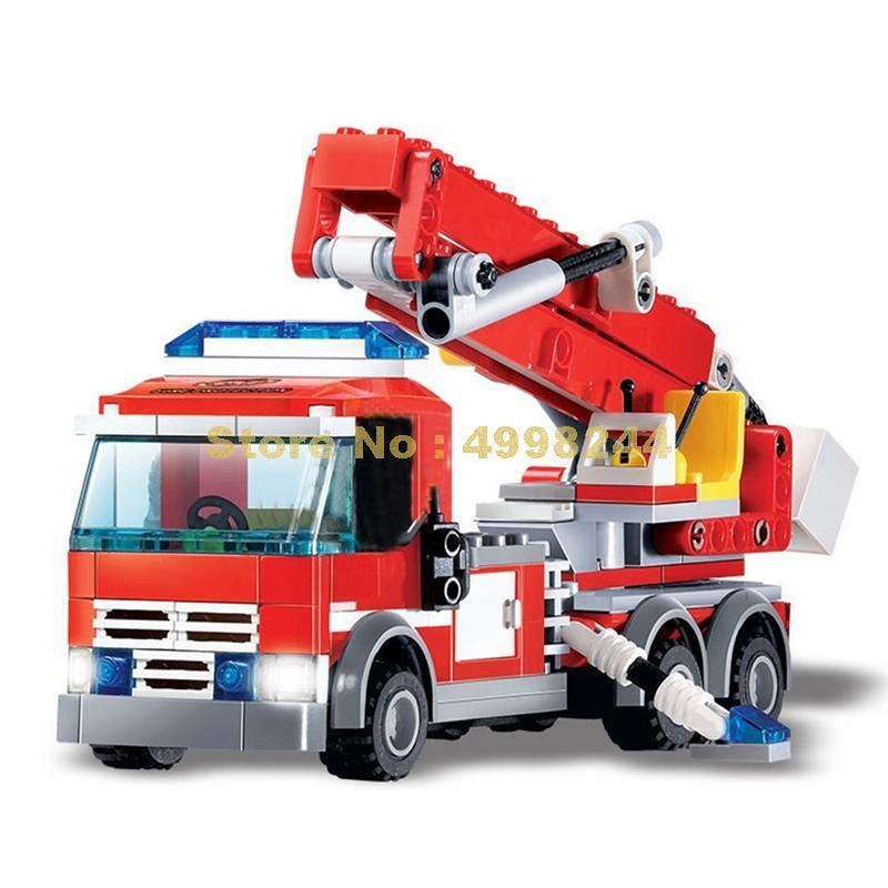 244 шт., Детский конструктор пожарный