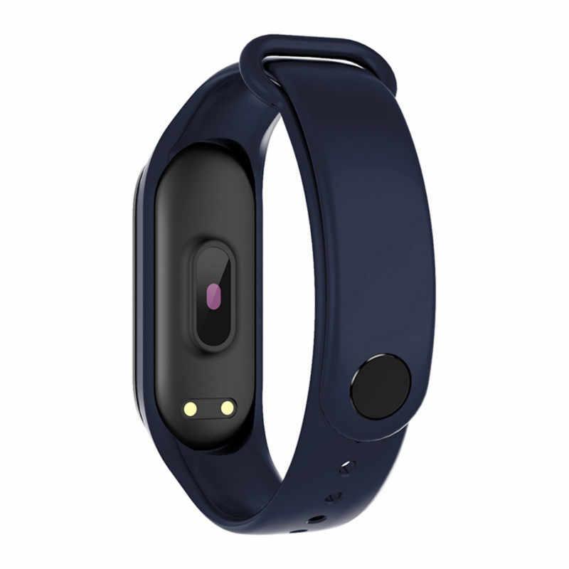 M4 ساعة ذكية سوار رياضي رصد الصحة مقاوم للماء معدل ضربات القلب ضغط الدم جهاز تعقب للياقة البدنية Smartwatch جديد معصمه 2019