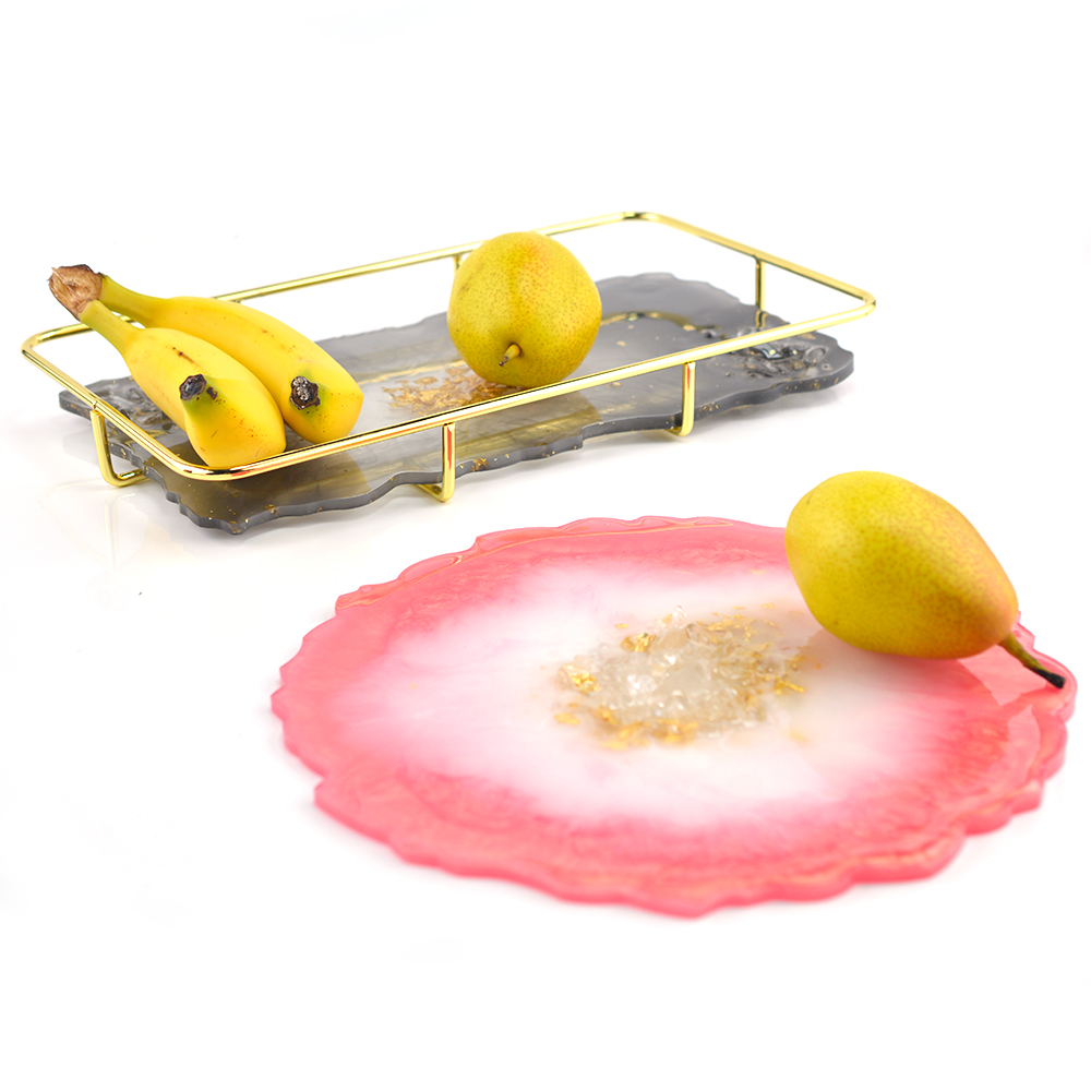 Hot Sell Decorative Craft Mold Fruit Tray Base Coaster Plate Mold Table Mat Resin Silicone Mold For Jewelry Making Resin Mold