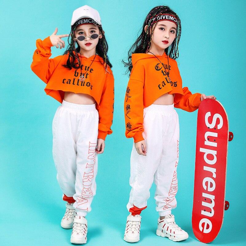 CHILDREN'S DAY Children Hip Hop Set Girls High-waisted Jazz Dance Costume GIRL'S Hiphop Hip Hop Performance