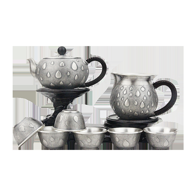 999 Handmade Sterling Silver Teapot Japanese Handmade Teapot Old Retro Tea Set Home