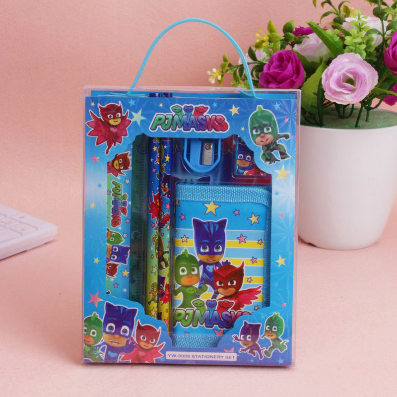 PJ Masks Stationary Set Juguete Catboy Owlette Gekko Anime Figures Pj Mask Birthday Gift  Toys For Children  Outdoor Toys
