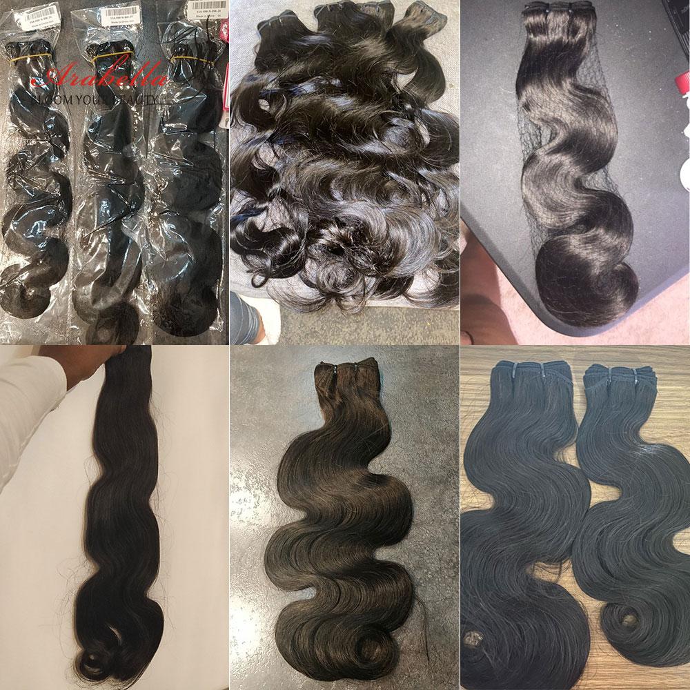 Super Double Drawn Hair   Body Wave Hair Bundles 100%  Arabella Natural Virgin Hair Bundles 5