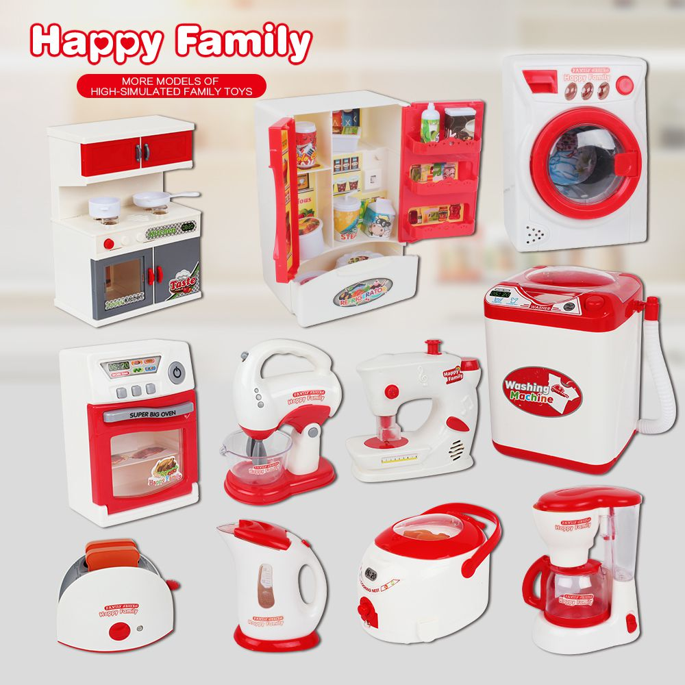 Toy  Mini  Battery Playset My First Play Kitchen Set  Electrical Appliances Educational Toys For Children 3 Years