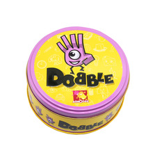 Card-Game Spot-Cards Tin-Box Dobble Table Kids And for It-Go Camping Metal Toys