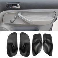 Para VW Golf 4 MK4 Jetta Bora 98-2005 cuero de microfibra Control Manual de la manija de la puerta del reposabrazos cubierta del Panel protector