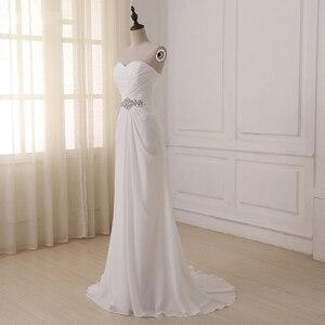 Image 3 - Jiayigong robe de mariée, robe de mariée, style Boho, sans manches, plissée avec Train de balayage, robe de mariage, été, plage, grande taille