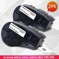 Topcolor M21-750-595 WT Этикетка ленты 19 1 мм подходит для Brady BMP21 PLUS IDPAL этикетка принтер черный на белом виниловом этикетке