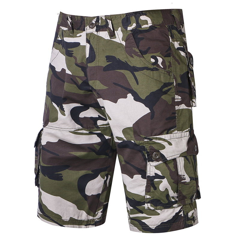 Camouflage Cargo Shorts Men  New Mens Casual Shorts Male Loose Work Shorts Man Military Short Pants