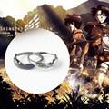 Кольцо для косплея Эрена йера Леви Аккерман, искусственное серебряное кольцо для косплея, мужские кольца, подарок на день рождения для парн...
