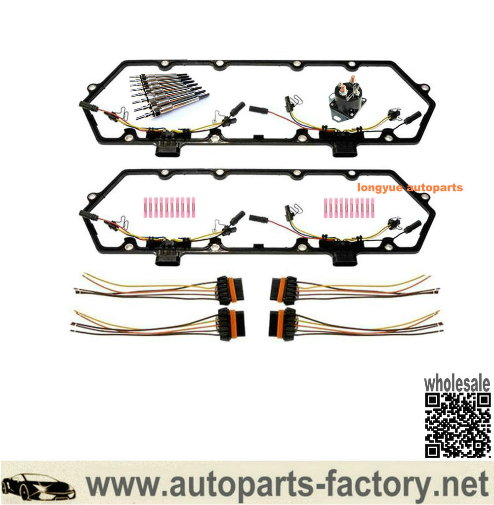 Valve Cover Gasket Fuel Injector Harness Glow Plug Kit for Ford Pickup Van 7.3L