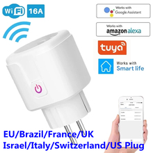 WiFi Smart Plug 16A EU UK Adapter Wireless Remote Voice Control Power Energy Monitor Outlet Timer Socket for Alexa Google Home