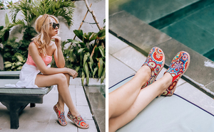 Image 4 - UIN Blossom Design Красочный Арт Окрашенный Холст Мокасины для Женщин Широкие Ноги Комфорт Обувь Дамы Открытый Мягкие Легкие Кроссовки