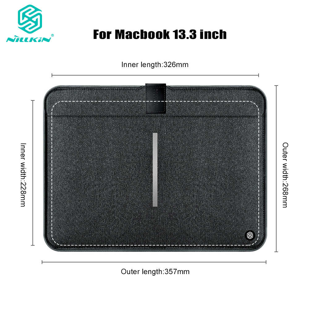 Original Nillkin Protective Sleeve Case Bag Bolsa para MacBook Air de 13.3 polegada para MacBook Pro 13 polegada-resistente à Água anti Colisão