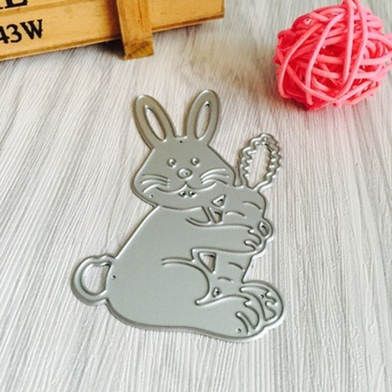 Easter Bunny Cutting Dies Frame Scrapbooking Card Album Embossing Stencils Mold