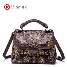 ใหม่ของแท้กระเป๋าถือหนังหรูผู้หญิงกระเป๋านูน Designer VINTAGE CROSS Body กระเป๋าสุภาพสตรี Messenger กระเป๋าขนาดใหญ่