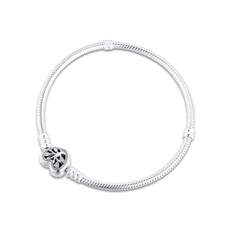 Moments Family Tree Hear Chain Bracelets for Women 925 Sterling Silver Jewelry Charms Fashion Jewelry Findings
