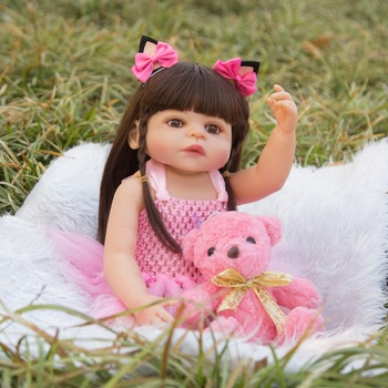 baby Model Infant Rebirth Doll Reborn Baby new Popular Hot Selling Recommended silicone toy for kids girls gift with bear doll