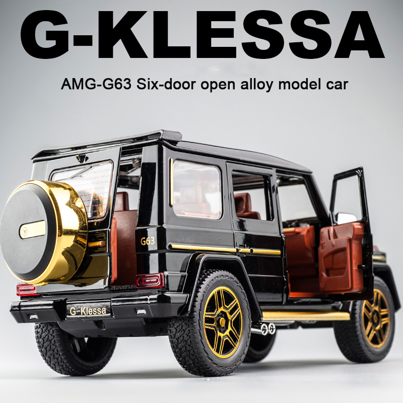 KIDAMI 1:24 AMG G63 Alloy Car Model Simulation Toy Car Model Is A Children's Toy Car With Sound And Light Effect And Pull Back