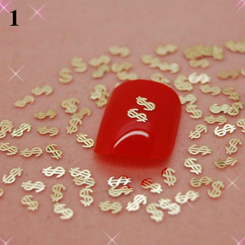 Более 700 шт./упак. один стиль, доступны золотые металлические наклейки для дизайна ногтей, металлические наклейки + высокое качество K21
