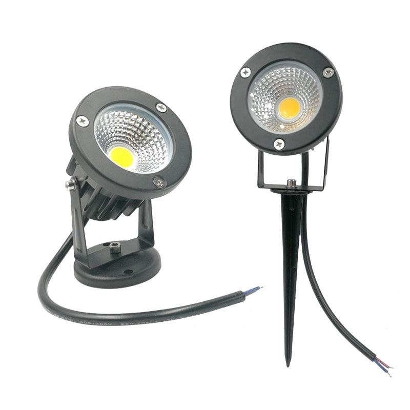 10X Led Outdoor Landscape Lighting 12V 110V 220V Garden Spike Landscape Light 3W 5W 10W 12W Landscape Spot Lights For Garden