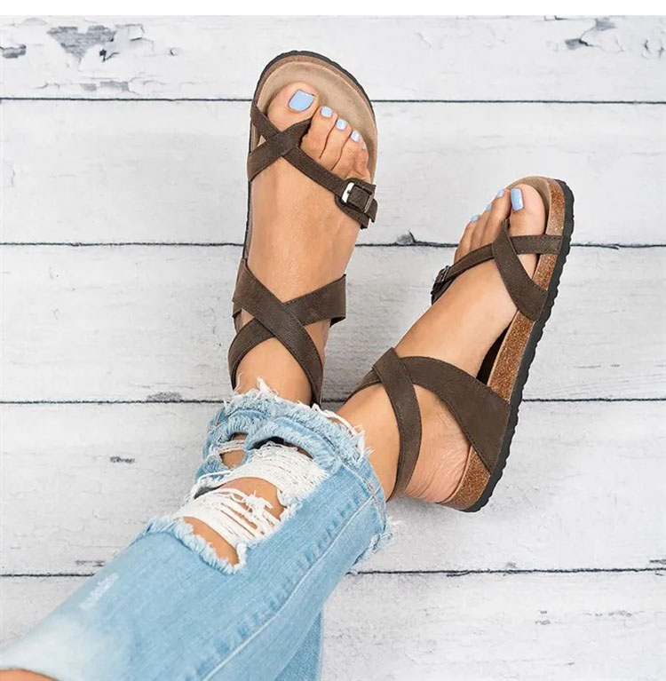 JODIMITTY 2020 Summer Casual Shoes Women Sandals Flat Beach Shoes  Flop Ladies Sandals Shoes For Woman Chaussures Beach Shoes 2