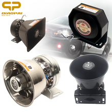 Universal Car Speaker 400W Alarm Tone Loudspeaker 12V Warning Sound Horn 200W Vehicle Police Siren Voice Trumpet Electron horn