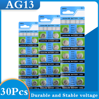 30Pcs /3 Park AG13 1.5V LR44 L1154 RW82 RW42 SR1154 SP76 A76 357A pila lr44 SR44 AG 13 Alkaline Button Cell Coin Battery image