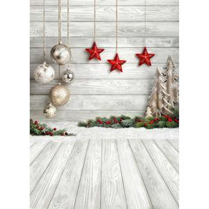 Image 3 - Christmas Balls Gifts Photo Backdrop Computer Printed Background for Children Baby Family Party Photoshoot Photography Props
