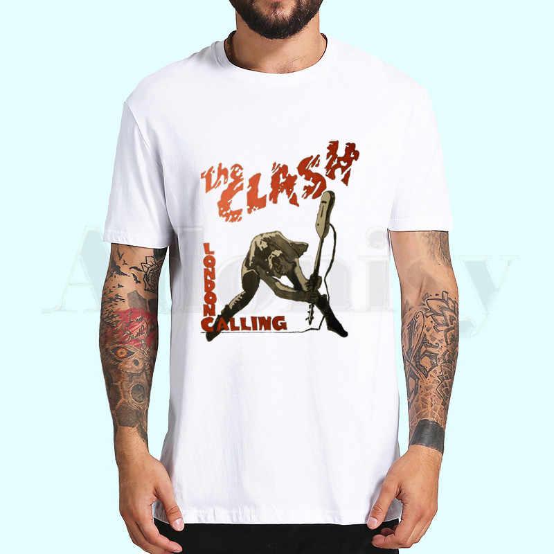 Londra arama müzik Rock grubu Clash T shirt bahar üstleri yaz tee erkekler kadın kısa kollu rahat kişilik T gömlek