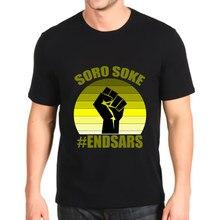 Moda impresso tshirt novo soro soke endsars topo masculino solto personalização t costomizável
