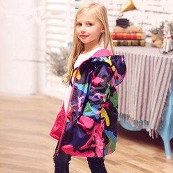 2020 meninas jaquetas com capuz crianças longo blusão crianças casacos de chuva à prova água roupas menina esporte capa chuva adolescentes outerwear