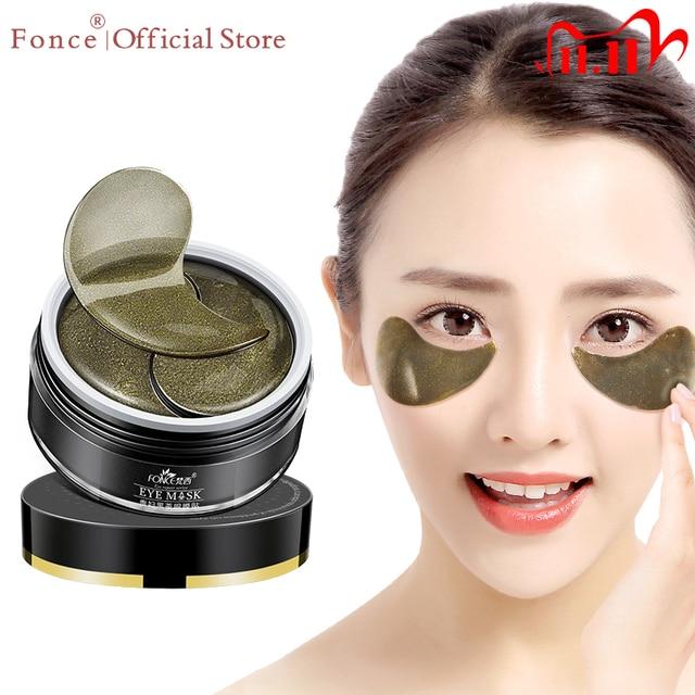 FONCE Parches de Ojo de cristal de colágeno para té negro, 60 Uds., eliminador Natural de ojeras, se desvanece, líneas finas, máscaras de bolsa para dormir