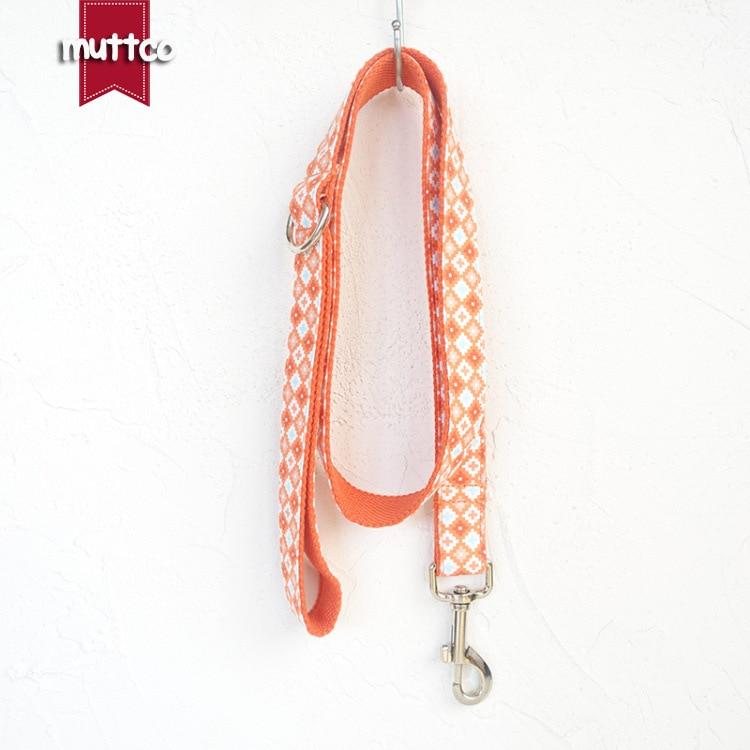 Muttco Origional Dog Hand Holding Rope Thick Pet Dog Lanyard Medium Large Dog Traction Belt Udl-065