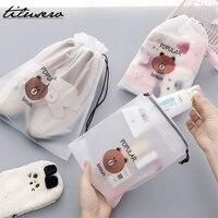 Nouveau ours étanche voyage emballage organisateurs femmes voyage maquillage bain organisateur pochette de rangement toilette lavage Beaut Kit H107