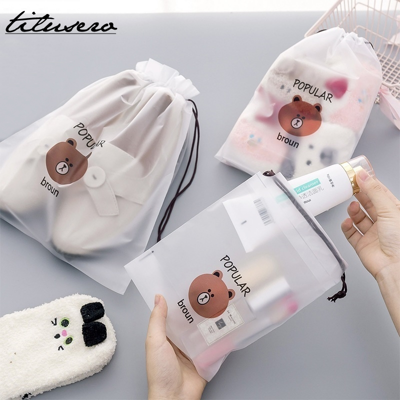 New Bear Waterproof Travel Packing Organizers Women Travel Make Up Bath Organizer Storage Pouch Toiletry Wash Beaut Kit H107