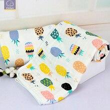 Elinfant, 1 шт., 6 слоев, муслин, хлопок, детские пеленки, мягкие одеяла для новорожденных, черный, белый цвет, марля, Детская накидка, спальный мешок, пеленка