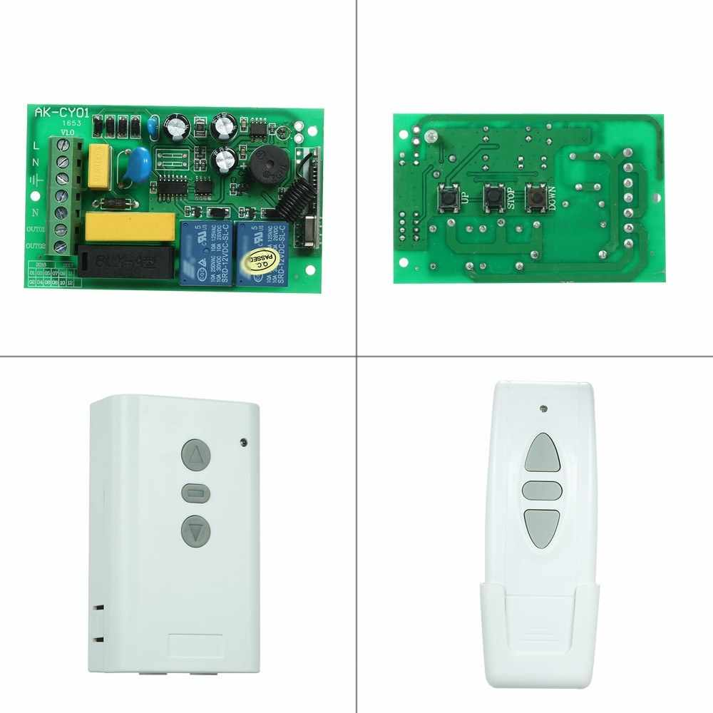 AC220V Motor RF Wireless Remote Control Switch System 2CH 433MHz Controller