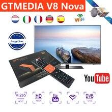 цена на TV Receiver Receptor Gtmedia V8 NOVA Support built-in WIFI H.265 DVB-S2 cline cccam Spain tv decoder Support IPTV Youtube