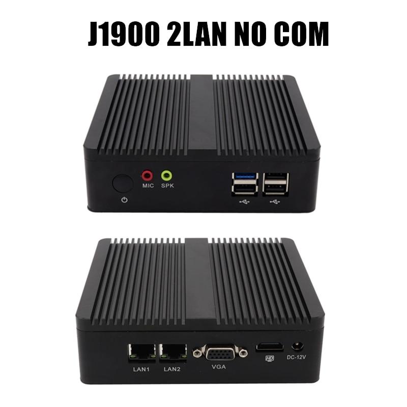 Topton Quad Core 3160 J1900 Fanless Mini PC Windows 7 10 Dual NICS WIFI Linux Pfsense Router Firewall Server AES-NI Supported