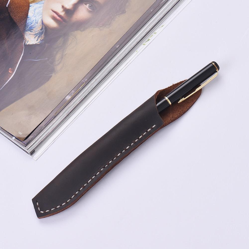 ELONG Chinese Grey Handmade Fountain Pen Case Bag for 9 pen