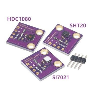 1 sztuk DC1080 Si7021 SHT20 przemysłowy czujnik wilgotności o wysokiej precyzji z interfejsem I2C GY-213V-SI7021