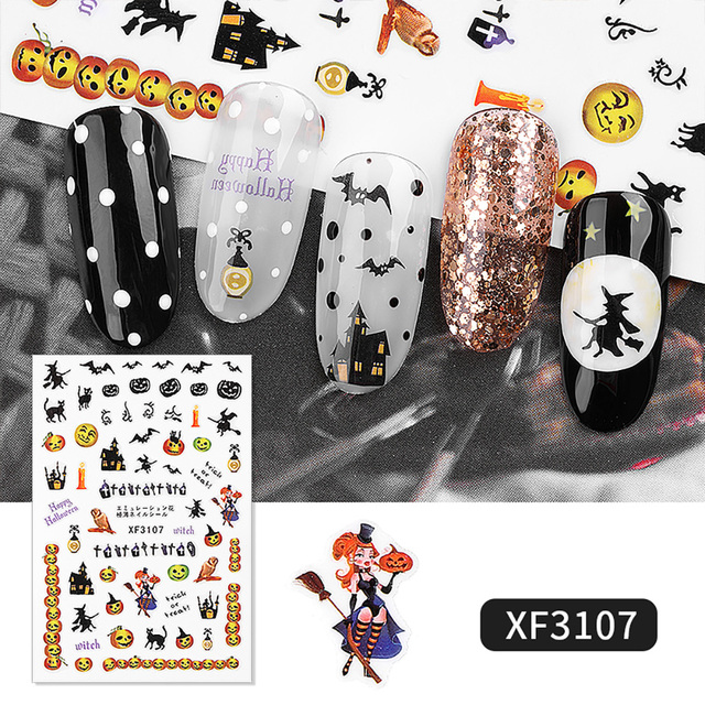 Amazing Halloween Nail Stickers 8 Styles 4