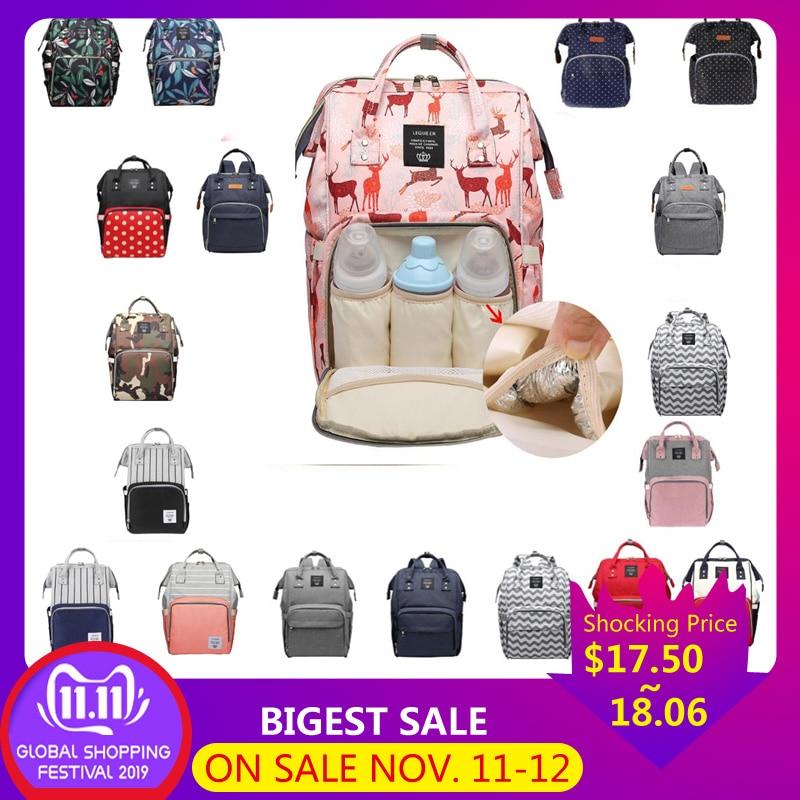 Lequeen сумка для кормящих мам, подгузник для мам, брендовая Большая вместительная детская сумка, рюкзак для путешествий, дизайнерская сумка для кормящих мам для ухода за ребенком