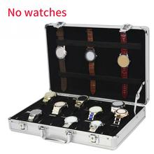 24 Grid Jewelry Storage Suitcase Watch Box Collection Aluminum Alloy Display