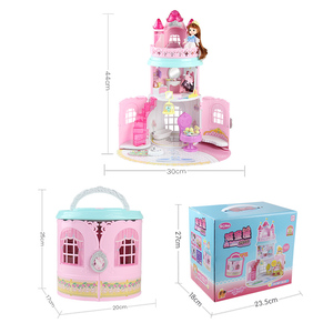 Image 5 - Bebek evi el çanta aksesuarları sevimli mobilya minyatür Dollhouse doğum günü hediyesi ev modeli oyuncak ev oyuncak bebekler çocuklar için