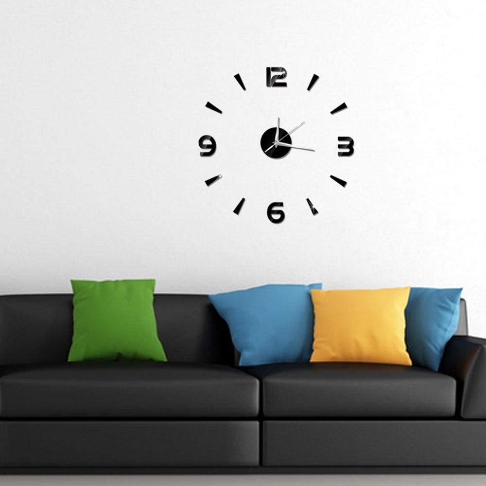 2019 New 3D Wall Clock Mirror Wall Stickers Fashion Living Room Quartz Watch DIY Home Decoration Clocks Sticker reloj de pared 14
